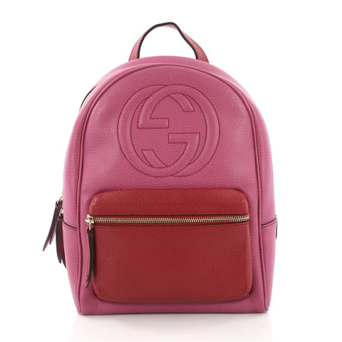 Gucci Soho Chain Backpack Leather Pink – Rebag 474c1bbc9666c
