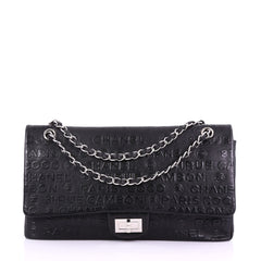 Chanel 31 Rue Cambon Double Flap Bag Embossed Leather 3814528