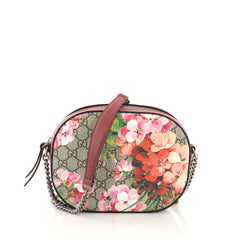 Gucci Chain Crossbody Bag Blooms Print GG Coated Canvas 3814542