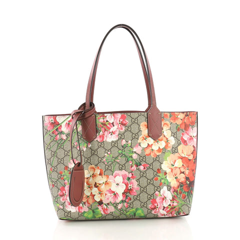 1a08016f873 Gucci Reversible Tote Blooms GG Print Leather Small 3814590 – Rebag