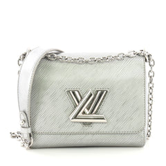 Louis Vuitton Twist Handbag Epi Leather PM Silver 381521