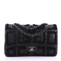 Chanel Garden of Versailles Classic Double Flap Bag Sequin Embellished Alligator Medium 381582