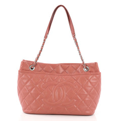 Chanel Timeless CC Soft Tote Quilted Caviar Large Pink 381583
