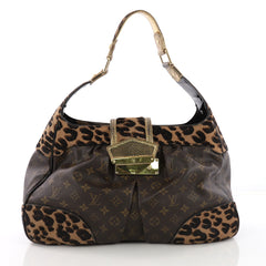 Louis Vuitton Polly Handbag Limited Edition Monogram Canvas and Pony Hair 38160/2
