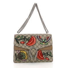 Gucci Dionysus Handbag Embroidered GG Coated Canvas 381671