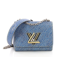 Louis Vuitton Twist Handbag Epi Leather PM Blue 381701