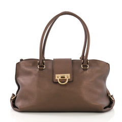 Salvatore Ferragamo Soft Sofia Tote Leather Large Brown 382021