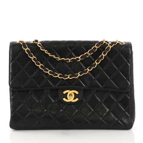 71489c19e992 Chanel Vintage Classic Single Flap Bag Quilted Lambskin 3821818 – Rebag