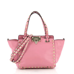 Valentino Rockstud Tote Soft Leather Mini Pink 38218215