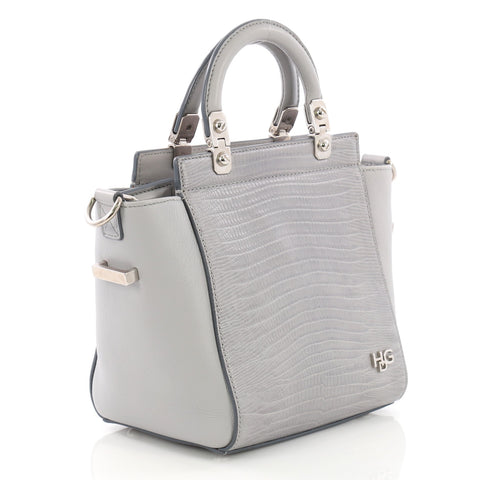 Givenchy HDG Tote Lizard Embossed and Leather Mini Gray 38218243 – Rebag c84924af1c045