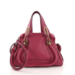 Chloe Paraty Top Handle Bag Leather Small Pink 3821882