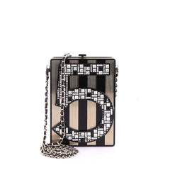 Chanel Model: No. 5 Minaudiere Embellished Plexiglass Black 38299/1