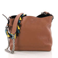 Loewe V Bucket Bag Leather Brown 3831117