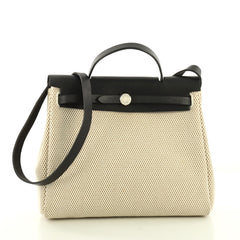 Hermes Herbag Toile and Leather PM