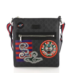 Gucci Night Courrier Zip Messenger GG Coated Canvas with 383271