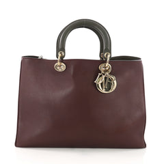 Christian Dior Diorissimo Tote Smooth Calfskin Large Purple 383777