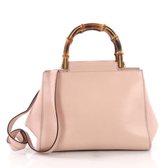 Gucci Nymphaea Top Handle Bag Leather Small Pink 384022