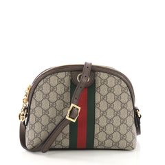 Gucci Ophidia Dome Shoulder Bag GG Coated Canvas Small 384131