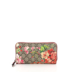 Gucci Zip Around Wallet Blooms Print GG Coated Canvas 3841836