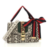 Gucci Sylvie Shoulder Bag Snakeskin Small White 3843810