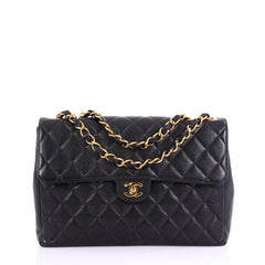 Chanel Vintage Square Classic Single Flap Bag Quilted 384389