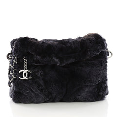 Chanel Model: Ultimate Soft Hobo Fur with Leather Small Blue 38440/106