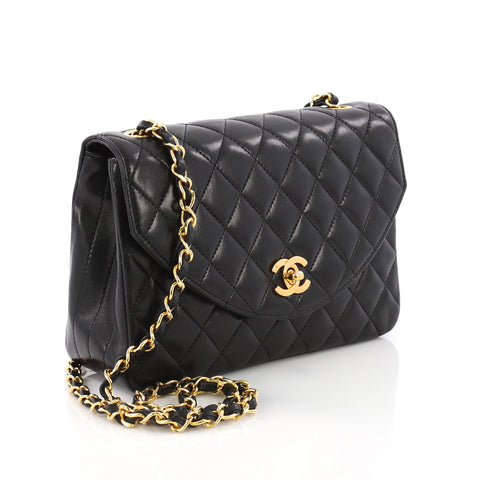 9fcefe4fa473 Buy Chanel Vintage Round Flap Bag Quilted Lambskin Medium 38440112 ...