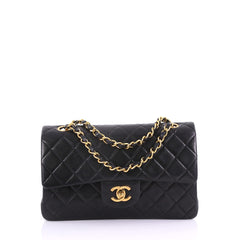 Chanel Vintage Classic Double Flap Bag Quilted Lambskin 38440116