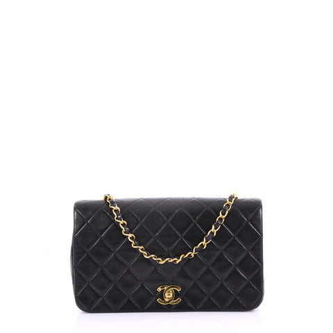 2aadde4638c9bb Chanel Vintage 3 Way Full Flap Bag Quilted Lambskin Small 38440117 – Rebag