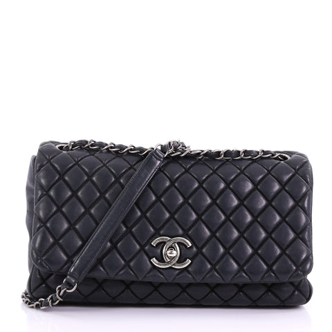 db8244e5dbe41f Chanel New Bubble Flap Bag Quilted Iridescent Calfskin 38440164 – Rebag