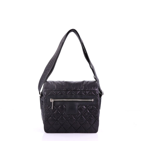 557a31b2a4ba60 Chanel Coco Cocoon Messenger Bag Quilted Nylon Medium 38440165 – Rebag