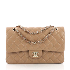 Chanel Classic Double Flap Bag Quilted Lambskin Medium 38440186