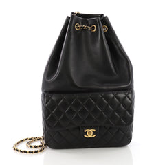 Chanel Backpack In Seoul Lambskin Large - Designer Handbag Black 38440194