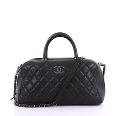 Chanel Coco Handle Bowling Bag Quilted Caviar Medium 38440212