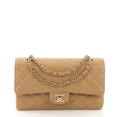 Chanel Vintage Classic Double Flap Bag Quilted Caviar 38440213