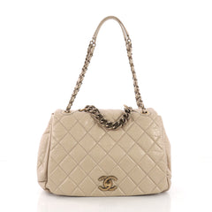 Chanel Pondichery Flap Bag Quilted Aged Calfskin Large 38440240