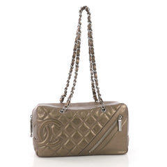 Chanel Cotton Club Bowler Quilted Aged Calfskin Medium Gold 3844035