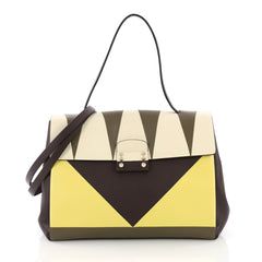 Valentino Colorblock Mime Handbag Leather Small 3844068
