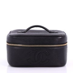 Chanel Vintage Timeless Cosmetic Case Caviar Black 3844090