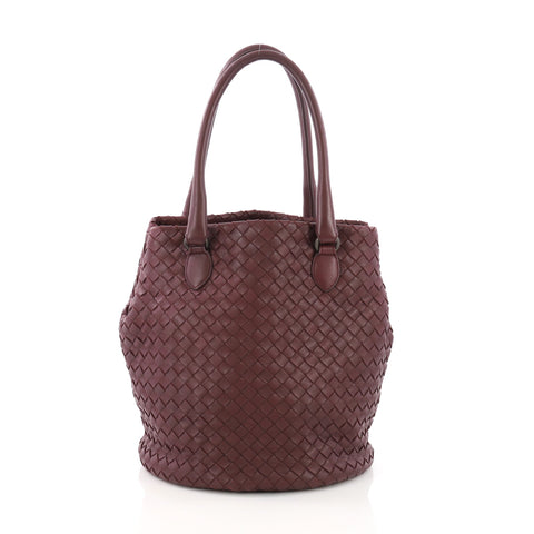 61e918747e5d Bottega Veneta Bucket Bag Intrecciato Nappa Small Purple 3844210 – Rebag