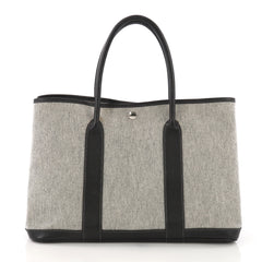 Hermes Garden Party Tote Toile and Leather 36 - Rebag