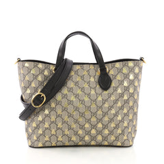 Gucci Convertible Soft Tote Printed GG Coated Canvas Small Brown 3846810