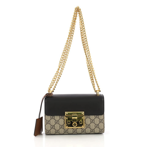2d60e108 Gucci Padlock Shoulder Bag GG Coated Canvas and Leather 3846817 – Rebag