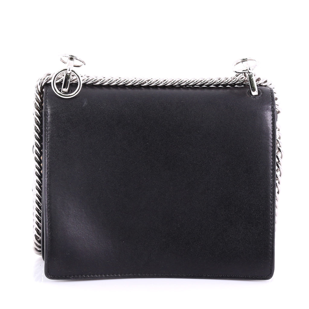 ed690d08677a Buy Fendi Kan I Handbag Pearl Embellished Leather Small Black 384685 ...