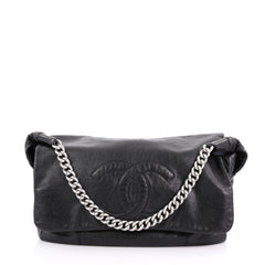 3d79ff3be800 Chanel Rodeo Drive Shoulder Bag Lambskin Jumbo Black 3848837