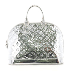 Louis Vuitton Alma Handbag Miroir PVC GM Silver 38526105