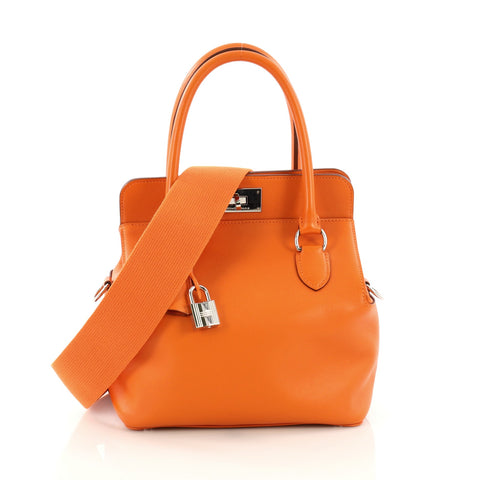 ce31ab38f520 Hermes Toolbox Handbag Swift 20 Orange – Rebag