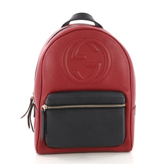 Gucci Soho Chain Backpack Leather Red 38526131