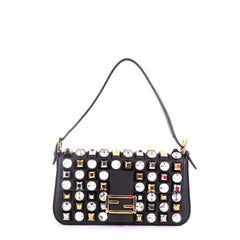 Fendi Baguette Studded Leather Black 3852635