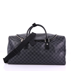 Louis Vuitton Roadster Handbag Damier Graphite Black 3852676